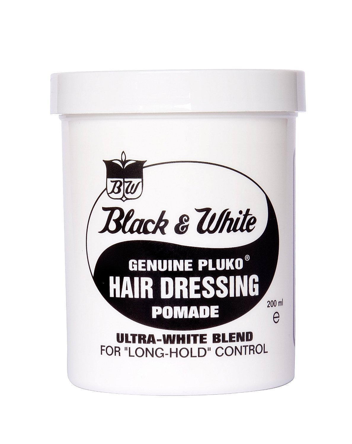 Black and White Pluko Hair Dressing Pomade